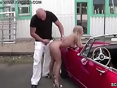 Petite Whore Fuck Outdoor by Stranger for Resource in Germany