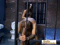 Astounding Mistress Vanessa Dominates A Slave In Jail
