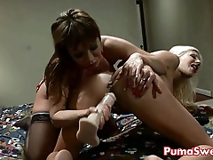 Pizza Delivery Girl Puma Swede Fucks Ava Devine with Strapon!