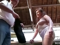 German Mother in Stockings Seduce just about Fuck on Work