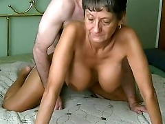 Horny and busty granny doggystyle and creampie. More at 747cams.com