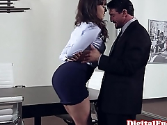 Office milf pounded on apex of desk
