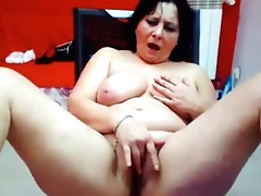 Dirty bbw mother masturbating her big we pussy on cam. More at 747cams.com