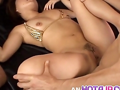 Haruka Aizawa has ass together with crack full of cum after double teaming