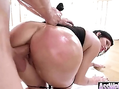 Big Oiled Wet Butt Girl Get Nailed Deep In Her Ass clip-26