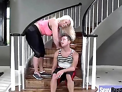 Big Melon Juggs Mommy Fucked Hard On Tape clip-03
