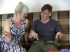 Russian sexy grandma Lena and Alex