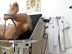 Vaginal well supplied and pussy exam caught with water down snoop cam