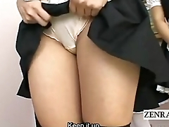 SUBTITLED POV Coy JAPANESE GROUP MAIDS INTERVIEW