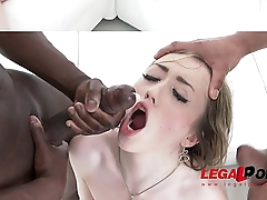 Petite slut Jessy railed by 3 black monster cocks (interracial anal &amp_ DP) SZ1102