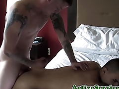 Buzzcut amateur marine jizz covered