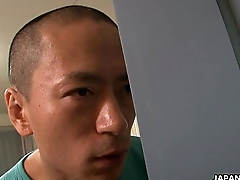 Asian sex addict toy fucks in the shower