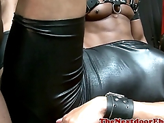 Leather studs assfucking in group
