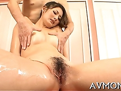 Milf asian slut and 3 dongs