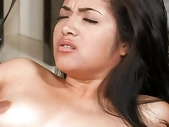 Angel sits cumcovered