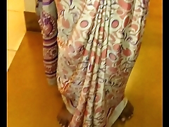 Wear and Cum all round Satin silk saree of neighbor 2