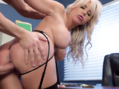 Nina Elle - The boss' Naughty wife acquires a load of jizz served in her cunt