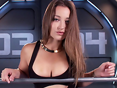 Amazing babe Dani Daniels and the contraption