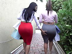 Two big ass whores Spicy J and Diamond Kitty got inhalation shopping