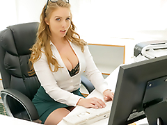 Morose babe Lena Paul In the porn scene - Cum Into My Office