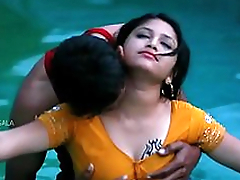 Hot Mamatha romance with boy friend in all directions swimming pool-1