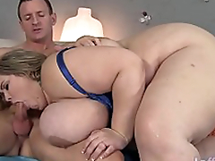 Giant boobed fatty Mandy Majestic receives fucked