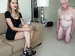 Unscrupulous mistress spells an old man be proper of money