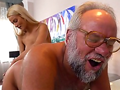 Chary Kiss and her a much older sweetheart - Grandpas Fuck Girlhood
