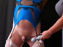 Pleasure Pain - Femdom Mistress CBT Session everywhere Sissy Slave