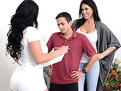 Mom Reagan Foxx tricks little one Ricky Spanish, and he cums inner of will not hear of