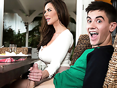 Hot mom Kendra Lust fucks plus blows son's strong dick