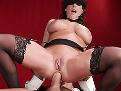 XXX slut Angela White with tapped nipps is penetrated fast in tushy