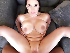 Slutty Angela White is humped missionary in first-person XXX porn