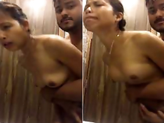 Exclusive- Super Blue look Desi Girl Hard Fucked In Bathroom