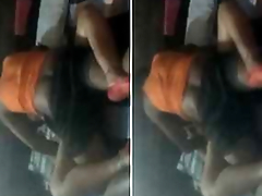 Today Exclusive- Horny Desi Couple Suntanned Duration Sex