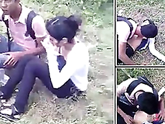 Desi College Couple Caught Outdoor