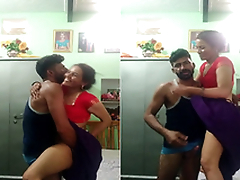 Exclusive-Desi Couple Standing Fuck