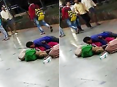 Today Exclusive- Crazy Desi Couple Sex In Railway Platform