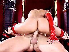 Sinner goes to XXX abode of the damned where succubus Rachel Starr rides his penis