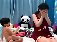 Eastern MILF can't resist XXX booty call and receives banged by stepson