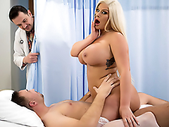 Womanizer skillfully works cock in permanently wet vagina of XXX nurse