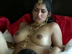 Extremely turned on dark skinned Desi dude eats wet pussy of his GF