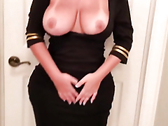 Curvy XXX! Untrained and busty blonde thick MILF feels confident on webcam