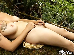 Busty Obscure Masturbate Outdoors