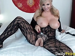 Mommy Bentley with chubby tits and sexy lingerie