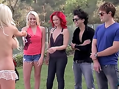 Four random people effectuation dirty sex games in a foursome