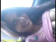 Indian sex mms of gorgeous girlfriend blowjob in car