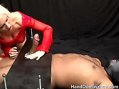 Fetish sub hand dominated